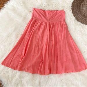 J. Crew Pink Knee Length Skirt